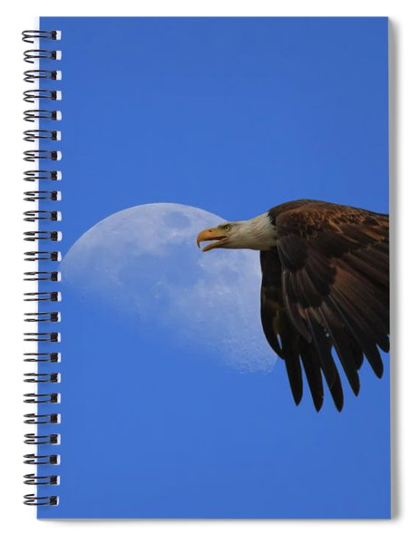 Eagle Moon Spiral Notebook