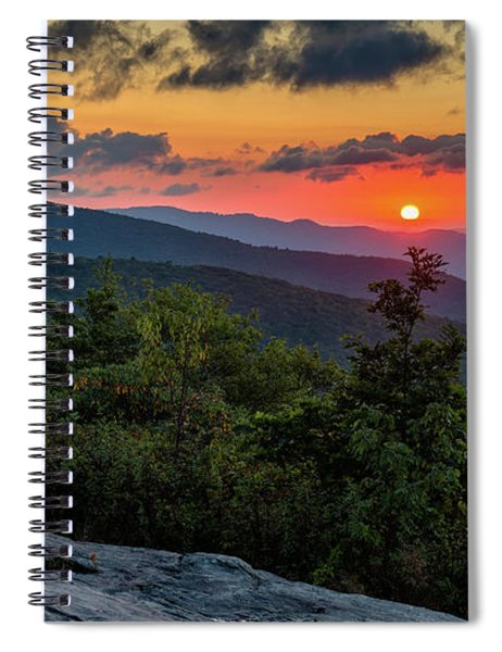 Blue Ridge Parkway Sunrise - Beacon Heights - North Carolina Spiral Notebook