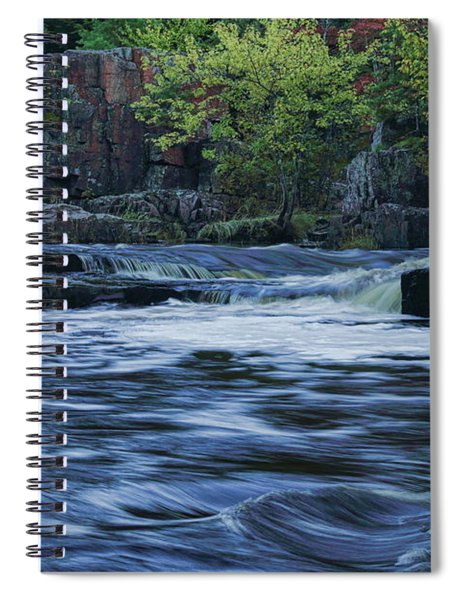 Early Fall At Eau Claire Dells Park Spiral Notebook