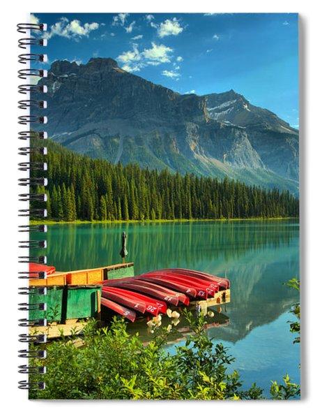 Early Morning At Emerald Lake Spiral Notebook