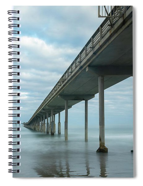 Early Morning By The Ocean Beach Pier Spiral Notebook