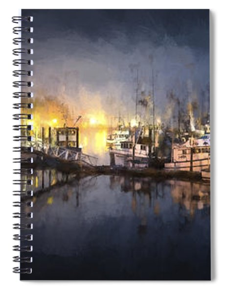 Early Morning Harbor IIi Spiral Notebook