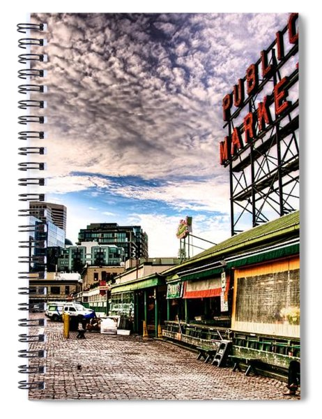 Early Morning Market Spiral Notebook