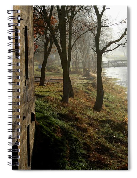 Early Morning Mist On The I  M Canal Spiral Notebook