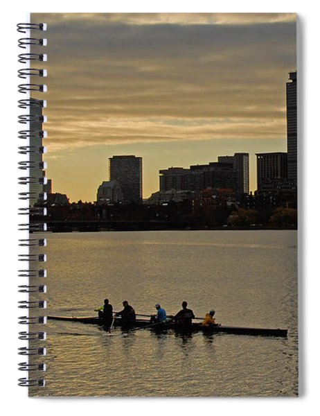 Early Morning On The Charles River Spiral Notebook