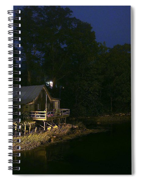 Early Morning On The River Spiral Notebook
