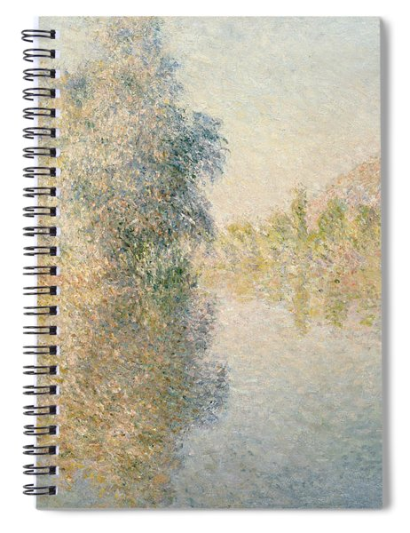 Early Morning On The Seine At Giverny Spiral Notebook