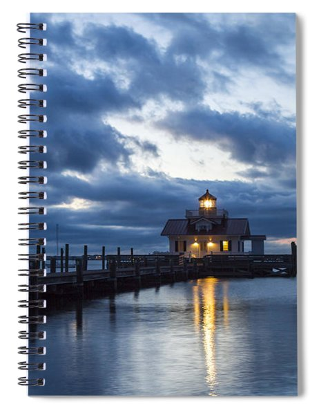 Early Morning Over Roanoke Marshes Lighthouse Spiral Notebook