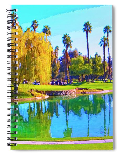 Early Morning Tee Time Spiral Notebook