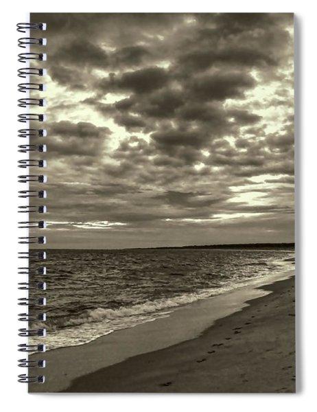 Early Morning Walk On Virginia Beach Spiral Notebook