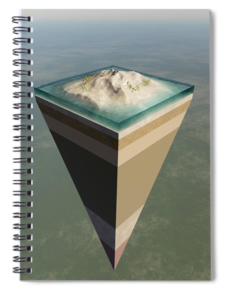 Earth Core Structure Cut-away Spiral Notebook