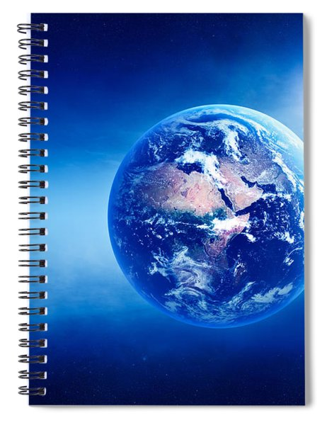 Earth Sunrise Deep Space Spiral Notebook