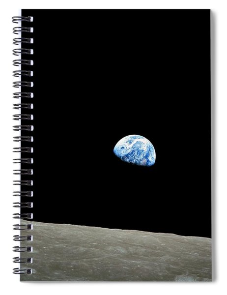Earthrise - The Original Apollo 8 Color Photograph Spiral Notebook