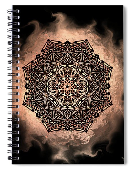 Earthy Mandala Spiral Notebook