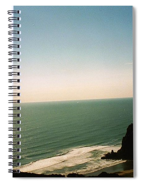 East Coastline In New Zealand Spiral Notebook