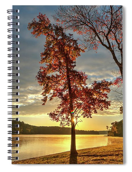 East Texas Autumn Sunrise At The Lake Spiral Notebook