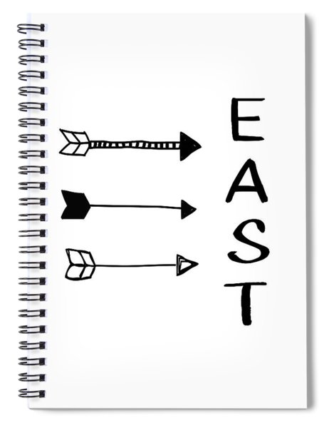 East With Arrows- Art By Linda Woods Spiral Notebook