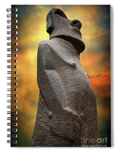 Easter Island Moai Spiral Notebook