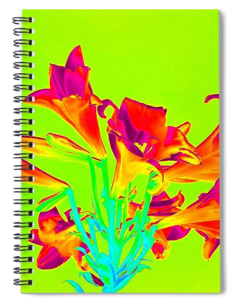 Vibrant Lilies Spiral Notebook