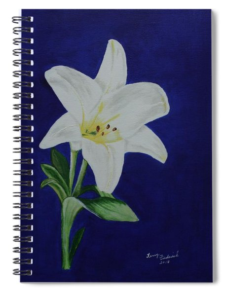 Easter Lily Spiral Notebook