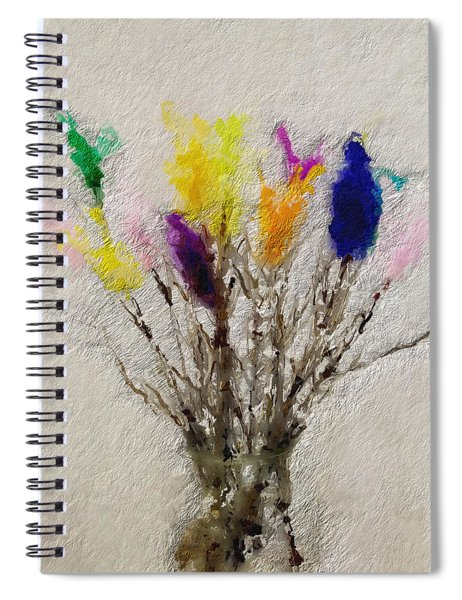 Easter Tree- Abstract Art By Linda Woods Spiral Notebook