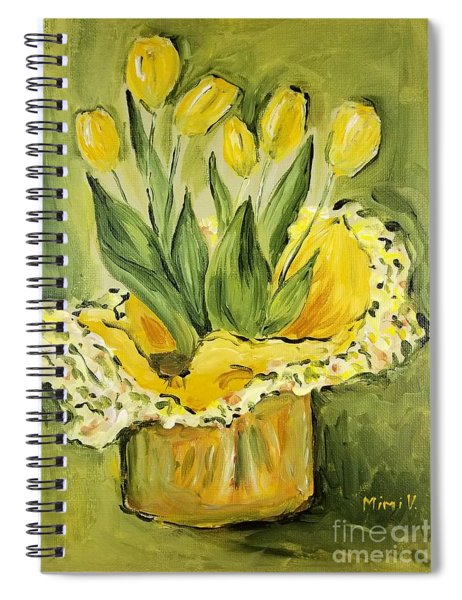 Easter Tulips Spiral Notebook by Maria Langgle
