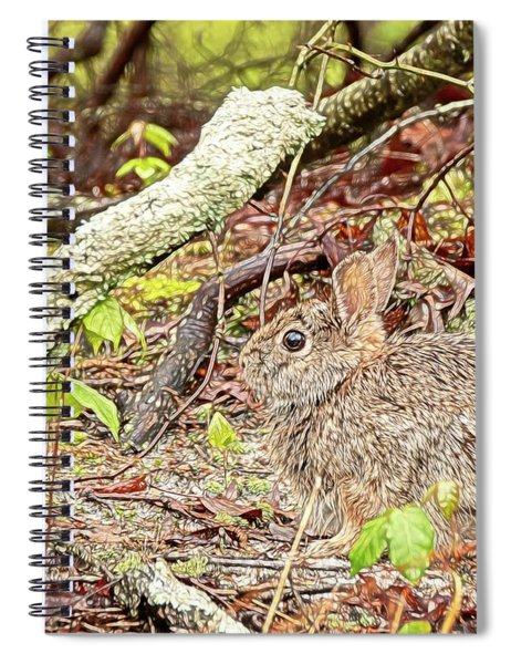 Eastern Cottontail Rabbit Spiral Notebook