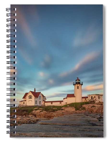 Eastern Point Lighthouse At Sunset Spiral Notebook