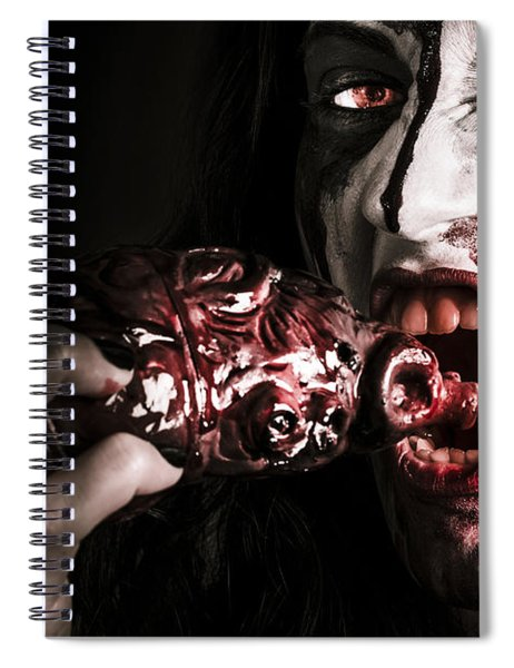 Eat Your Heart Out. Zombie Eating Bloody Heart Spiral Notebook