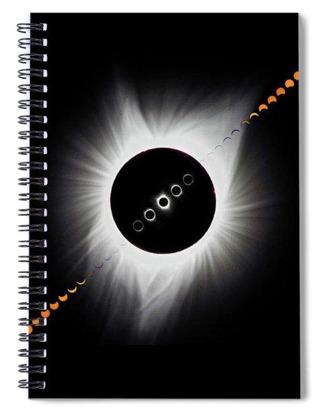 Eclipse Montage 2017 Spiral Notebook
