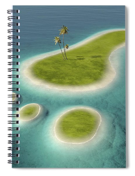 Eco Footprint Shaped Island Spiral Notebook
