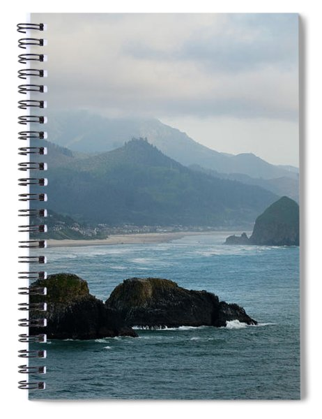 Ecola State Park View Of Haystack Rock And 3 Arch Rocks Spiral Notebook