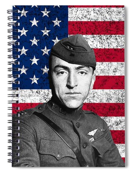 Eddie Rickenbacker And The American Flag Spiral Notebook