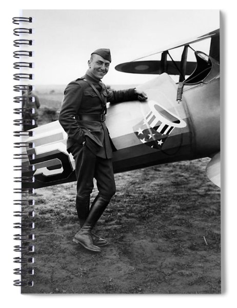 Eddie Rickenbacker - Ww1 American Air Ace Spiral Notebook