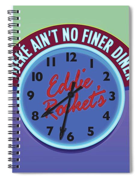 Eddie Rocket Clock Spiral Notebook