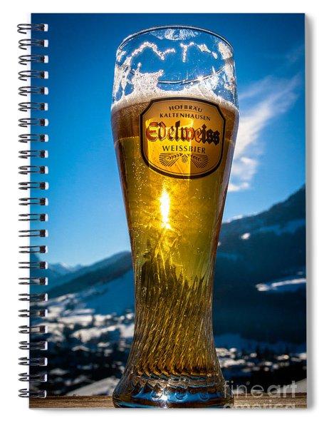 Edelweiss Beer In Kirchberg Austria Spiral Notebook