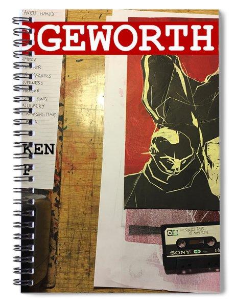 Edgeworth Chicken Shelf Cover Spiral Notebook
