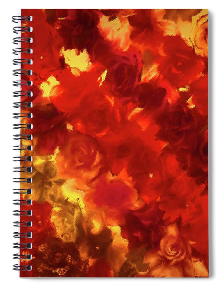 Edgy Flowers Through Glass Spiral Notebook