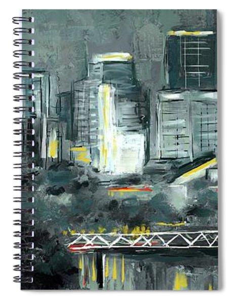 Edmonton Cityscape Painting Spiral Notebook
