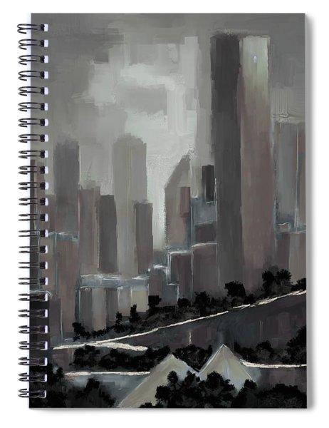 Edmonton Skyline Abstract Painting Spiral Notebook