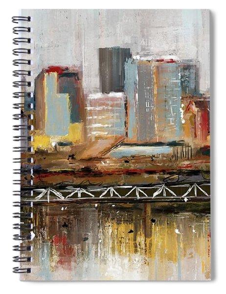 Edmonton Skyline Abstract1 Spiral Notebook