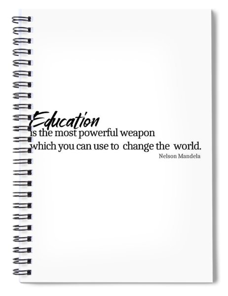 Education #minimalism Spiral Notebook