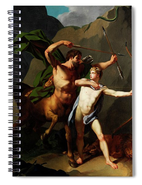 Education Of Achilles By The Centaur Chiron Spiral Notebook