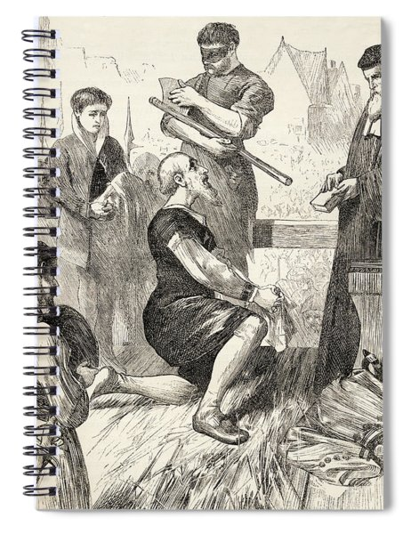 Edward Seymour On The Scaffold Awaiting Spiral Notebook