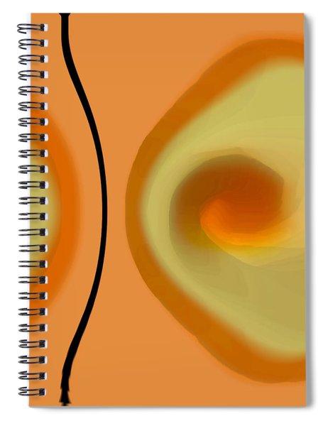 Egg On Broken Plate Spiral Notebook