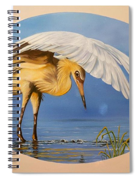 Chloe The  Flying Lamb Productions                  Egret Fishing Spiral Notebook