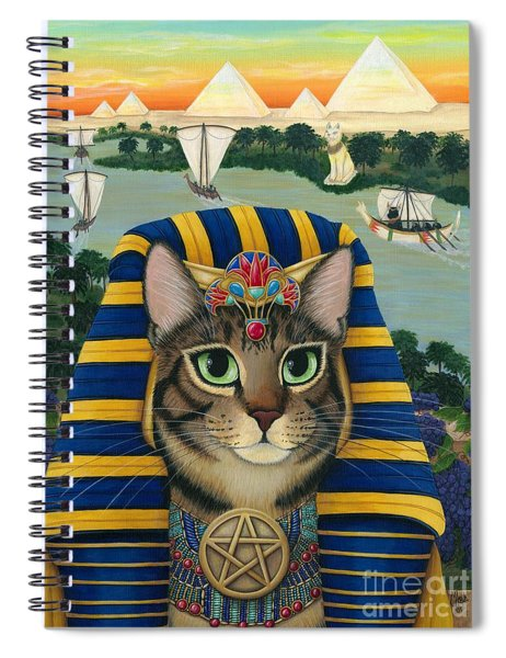 Egyptian Pharaoh Cat - King Of Pentacles Spiral Notebook