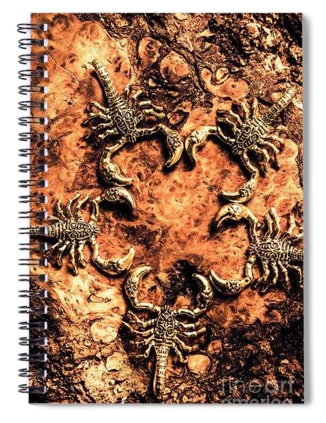 Egyptian Scopions Spiral Notebook