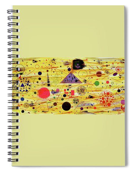 Spiral Notebook featuring the painting Egyptian Sunrise by Michael Lucarelli