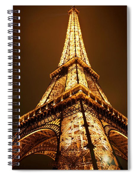 Spiral Notebook featuring the photograph Eiffel by Skip Hunt